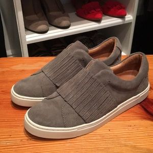 Gray Suede Frye Shoes Size 7